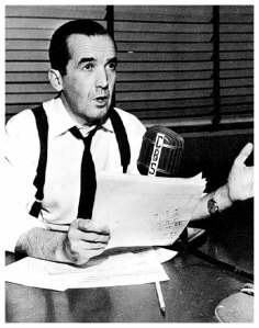 Edward R. Murrow spoke into the camera the evening of May 9, 1954